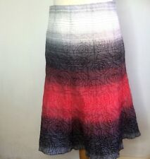 Per Una Skirt Size 12 White Red Blue Textured Polycotton Length 27""