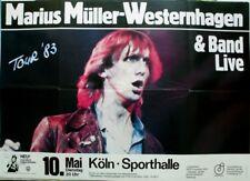 WESTERNHAGEN, MARIUS MÜLLER - 1983 - Konzertplakat - Tourposter - Köln