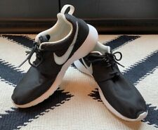 Nike Sneakers - Black with White Swoosh - Size 5.5 Youth