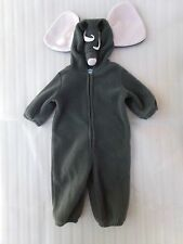 Gray Old Navy Elephant Hoodie Bunting Snowsuit Costume Size 6-12 Months 6-12M