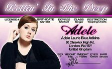 Adele star singer Rollin in the Deep Hello London Uk Drivers License rolling
