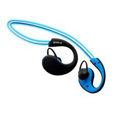 Groov-e GVBT800BE Wireless Bluetooth Sports Headphones with LED Neckband - Blue