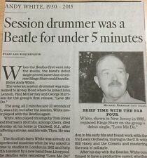 1930-2015 ANDY WHITE OBITUARY DRUMMER WAS A BEATLE LOVE ME DO