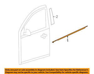 NISSAN OEM 12-18 Versa FRONT DOOR-Belt Weather Strip Left 808219KN1A