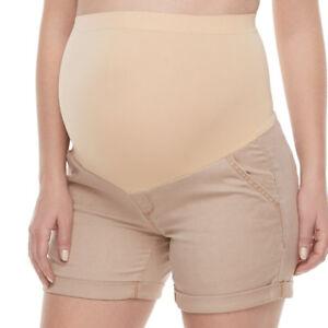 NWT! A:Glow Maternity Full Panel Cuffed Twill Shorts - Size 6