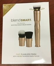 blendSmart Rotating Makeup Brush System With Travel Case | Gold (Blend Smart)