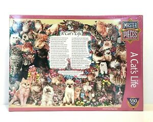"A Cat's Life 550 Pc Quality Jigsaw Puzzle MasterPieces 18"" x 24"" June Hart *NEW"