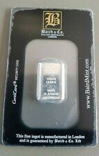 1/10oz ounce FINE 9995 PLATINUM BULLION BAR - BAIRD AND CO CERTICARD (NOT GOLD)