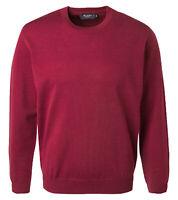 MAERZ Pullover klassischer Herren Langarm-Pullover Strick-Pulli Schurwolle Rot
