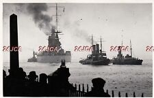 "Original Photograph Royal Navy.HMS ""Nelson"" aground Hamilton Bank Portsmouth '34"