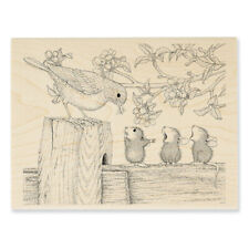 House Mouse Rubber Stamps Tweet Treat New Wood Stamp New!