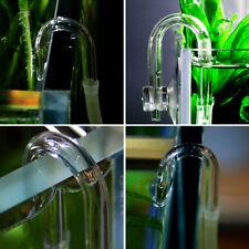 DIY Aquarium Co2 System Diffuser Check Valve U Shaped Glass Tube Bend Accessory