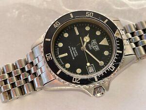Vintage Heuer 1000 Professional quartz stainless steel Divers mens watch