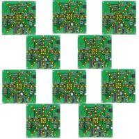 10Pcs LSD-73 Electronic LED Falshing Lights Soldering Practice Board DIY Kit