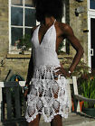 CROCHET DRESS NET. KNITTED BIKINI COVER UP. RANGE OF COLORS AVAILABLE