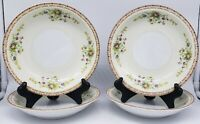 "Yamaka China Salad/Cereal Bowls Pattern YAM6  7"" Set of 4 Floral EUC Vintage"