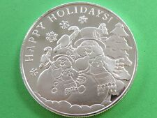 2018 Happy Holidays Snowman Christmas 1 troy oz silver .999