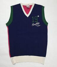 Jonk 46 smanicato uomo vintage maglione pullover usato L blu rosso verde jilet