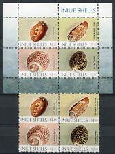 NIUE 2012 Muscheln Shells Meerestiere Satz + Block ** MNH