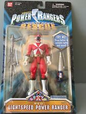 Power Rangers Lightspeed rescue Red ranger  new in sealed blister