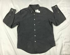 NWT ABERCROMBIE FITCH - MENS XXL - GRAY LONG SLEEVE BUTTON DOWN SHIRT