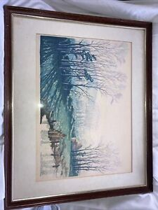 Spring Rhapsody Colour Wood Engraving Signed By Concord And Cavendish Morton