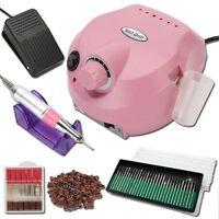 Electric Nail Manicure Art Drill File Pedicure Machine Acrylic Tool Set UK