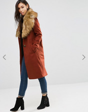 ASOSBNWT Coat With Oversized Faux Fur Collar Plus Size 18