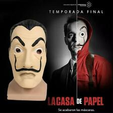 US! La Casa De Papel Face Mask Salvador Dali Face Latex Mask Halloween Cosplay