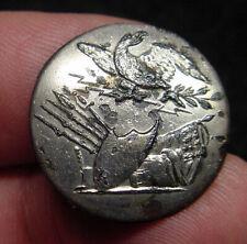 # W42 - War 1812 Silver Plate Infantry Officer Button