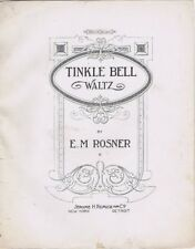Tinkle Bell Waltz, 1915, vintage sheet music
