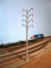 HO SCALE HIGH TENSION ELECTRIC MONOPOLE Train Layout Scenery Accessory Pkg3