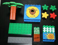 LOT PLAQUE BRIQUES LEGO DUPLO SPECIAL ORIGINAL BRIQUES PALMIER DIVERS