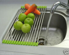 Folding Kitchen Sink Rack Stainless Steel Sink Drying Tray