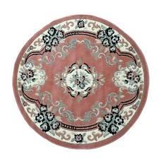 Tappeto Chinese Garden Rotondo 160x160 cm. Color Rosa Dis. 2038 M399