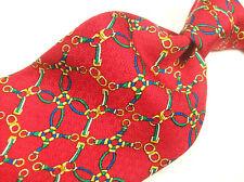 SINGAPORE TURF CLUB  Red CLASSIC Handmade Gem  Mens 100 SILK  Necktie  8-923