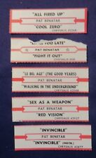 Lot of 5 Jukebox Tags 45 Rpm Title Strips Pat Benetar