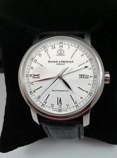 Baume Mercier Classima XL Executive GMT Automatic Watch  -  M0A08462- Exc. Cond.