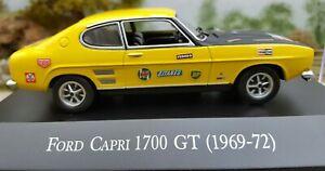 Ford Capri 1700 GT Mk 2 Yellow 1/43 scale rally ?