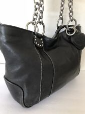 Juicy Couture Leather Bag Chain Black Hearts
