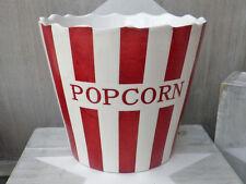 Krasilnikoff Popcorn Schale Streifen rot/weiß