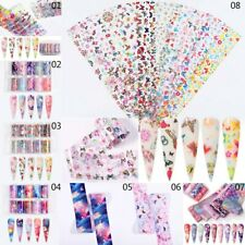 3D Nail Art Stars Butterfly Stickers Decals Transfers Strips Decor Gel Poli New