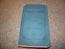 1869.Dictionnaire français et breton.Troude