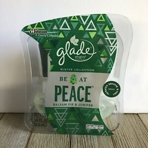 2 Glade BE AT PEACE BALSAM FIR JUNIPER Refill PlugIns Scented Oil Spruce 1 pack
