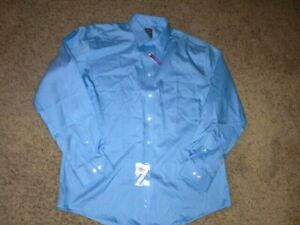 JOSEPH & FEISS blue cotton Dress Shirt 17 x 34/35 NEW with TAGS