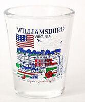 WILLIAMSBURG VIRGINIA GREAT AMERICAN CITIES COLLECTION SHOT GLASS SHOTGLASS
