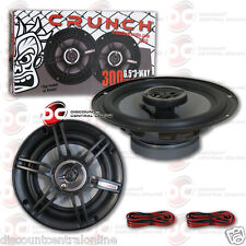 """BRAND NEW CRUNCH 6.5-INCH 3-WAY CAR AUDIO COAXIAL SPEAKERS (PAIR) 6-1/2"""""""