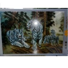 The White Tiger Jigsaw Puzzle 500 pcs Box Coating Gel 380*520mm Made in Korea