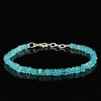 Exclusive 49.50 Cts Earth Mined Blue Apatite Beads Bracelet - Wholesale Price