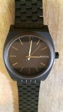 Nixon Time Teller all black Stainless Steel Watch black w/ gold hands (NEW)